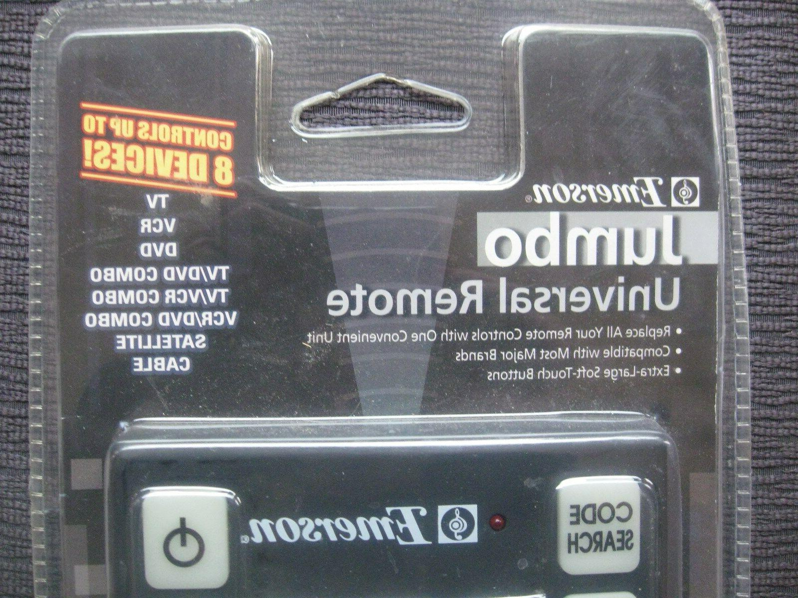 JUMBO Universal Remote NEW~Controls to Devices~TV,