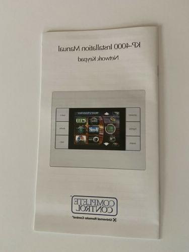 Universal Remote Control KP-4000 Native to the Keypad