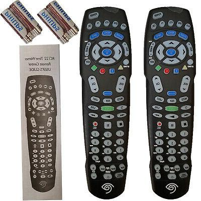 lot of 2 rc122 tv universal remote