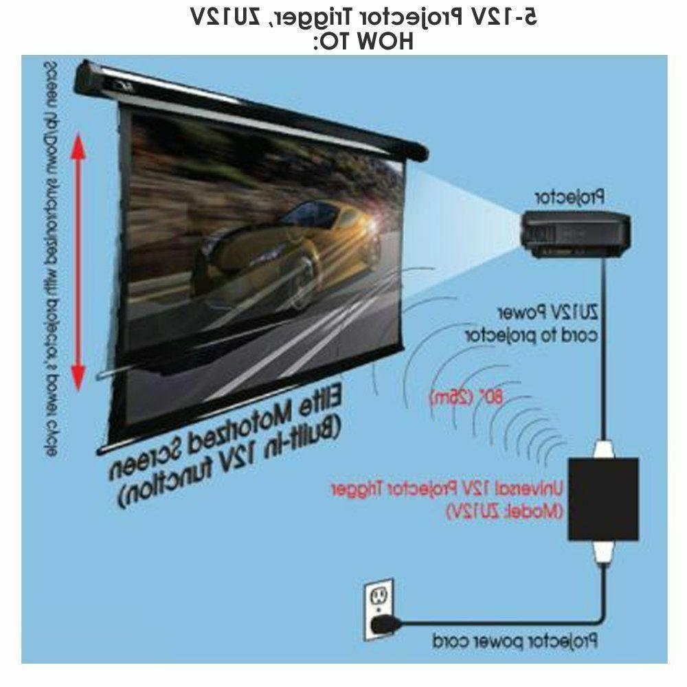 new elite screens inc zu12v universal wireless