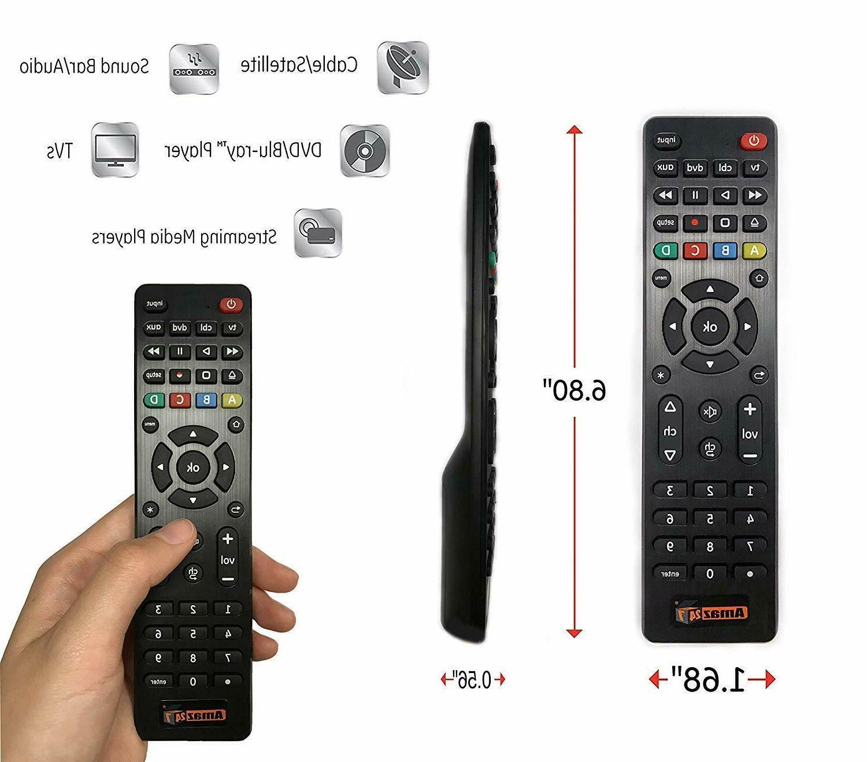 New Universal Remote Control, Simple Setup 4-Device Smart TV
