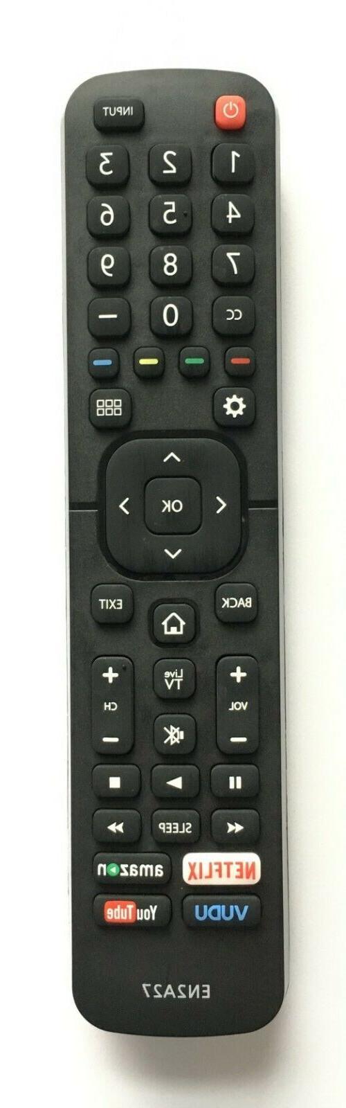 USBRMT New Hisense Remote EN2A27HT for Hisense Smart LED TV