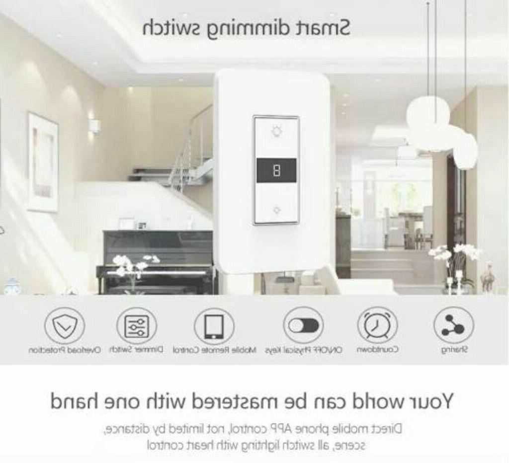 Smart Dimmer Light Switch WiFi in wall Control Alexa Home