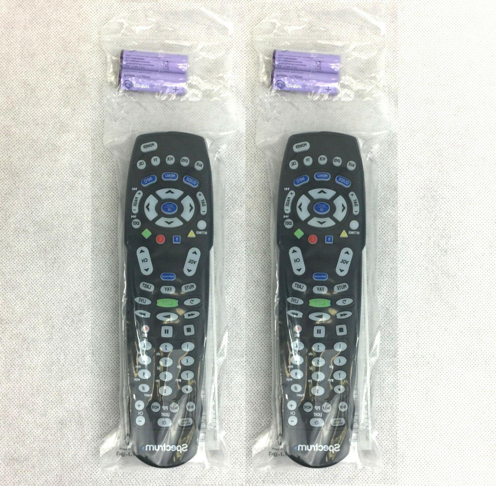 spectrum rc122 tv universal remote control charter