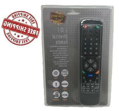 universal remote control 6 in 1 tv