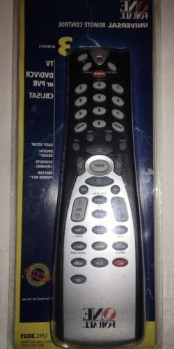One For All Universal Remote Control URC 3021w New