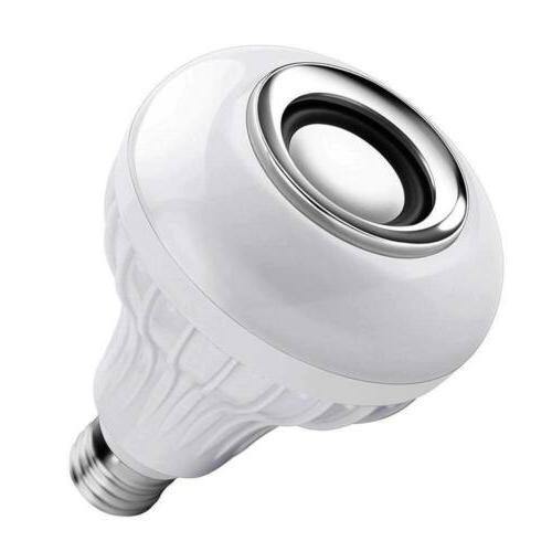 Wireless Bluetooth Light Speaker Bulb RGB E27 12W Music lamp Remote