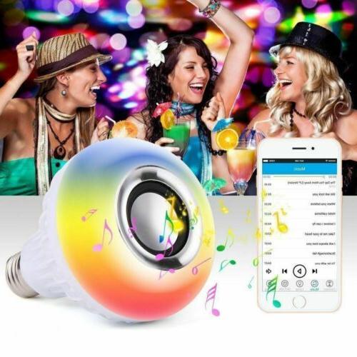 Wireless Bluetooth Light Speaker Bulb RGB E27 12W Remote