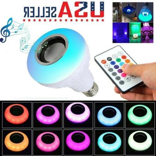 wireless bluetooth led light speaker bulb rgb