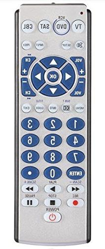 AmerTac - Zenith ZB410 4-Device Big Button Universal Remote
