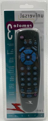 Zenith ZEN350K Universal Remote Control For 3 Devices - TV,