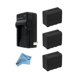 3 Pack Of Li-Ion Extended Life Replacement Battery for Sony