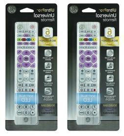 LOT 2 NEW GE 37038 6 Device UltraPro Universal Remote Contro