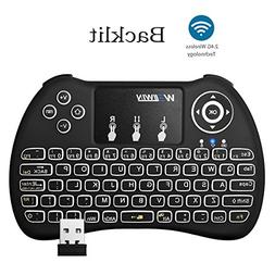 Mini 2.4Ghz Backlight Wireless Keyboard Mouse Touchpad Recha