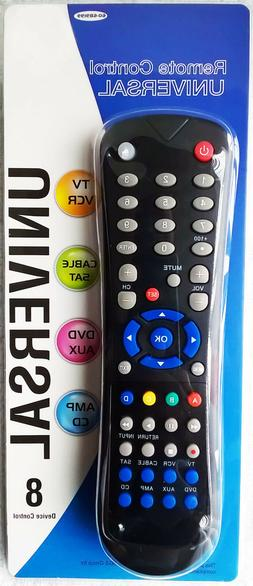 Momentum Brands Universal Remote Control, Controls 8 Devices