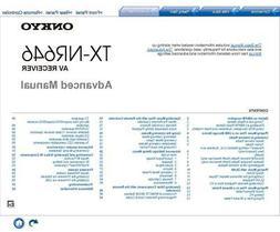 Onkyo TX-NR646 AV Receiver Manual Instructions User Guide Re