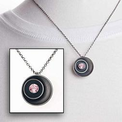 Pink Tourmaline Birthstone Necklace - Sterling Silver