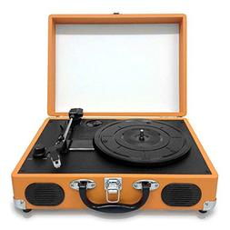 Pyle Retro Belt-Drive Turntable With USB-to-PC Connection, R