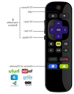 Universal IR Remote for Roku Player w/ TV Power Volume Butto