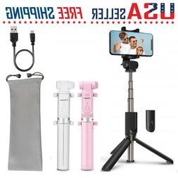 Selfie Stick Tripod Bluetooth Wireless Remote Control 360°
