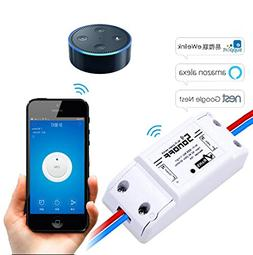 LEEHUR Sonoff Smart Wifi Switch Wall Timer Switch Smartphone