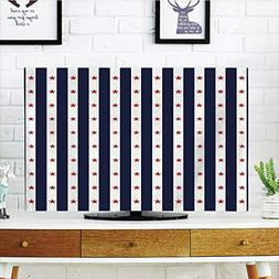 iPrint LCD TV Cover Lovely,USA,Happy Fourth of July Famous D