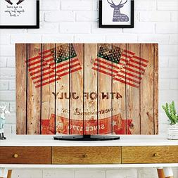 LCD TV dust Cover Customizable,4th of July Decor,American Fl