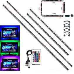 TV LED Backlight 2x50CM+2x100CM USB RGB 5050 Strip Light Rem