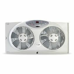 Bionaire Window Fan with Twin 8.5-Inch Reversible Airflow Bl