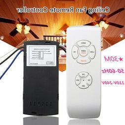 Universal 30M Wireless Ceiling Fan Lamp Light Remote Control
