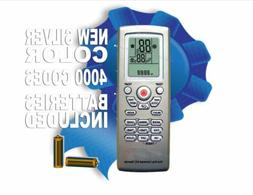 Universal A/C Remote Control With 4000 Brand Codes In Memory