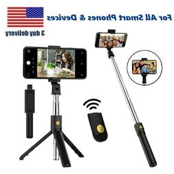 Universal Extendable Bluetooth Selfie Stick Tripod for All P