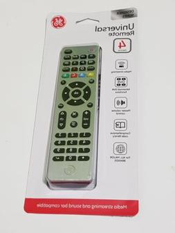 GE Universal Remote Control 4 Devices, Brushed  Silver Media