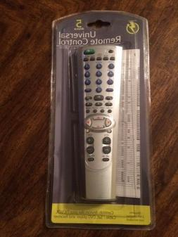 Universal Remote Control 5 device TV VCR Cable/Sat DVD playe