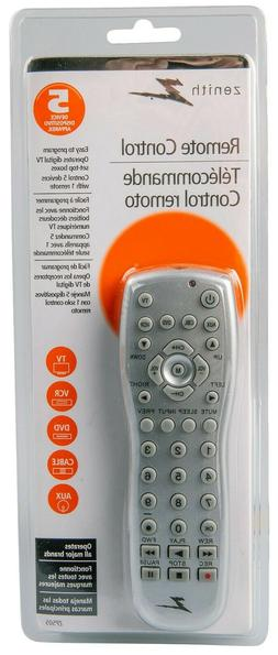 AUDIO SYSTEM CODES! Zenith Universal Remote Control,5 Device