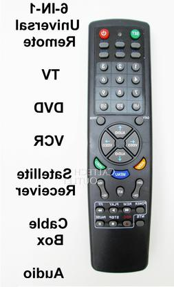 Universal Remote Controller 6 IN 1 TV DVD VCR Satellite Rece