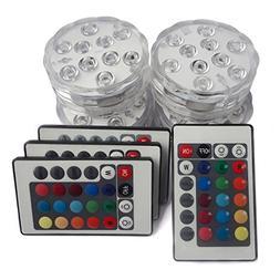 Tripop Waterproof LED Vase Light, RGB Color Changing and Bat