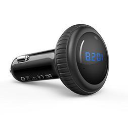 iClever Wireless Bluetooth FM Transmitter Radio Adapter Car